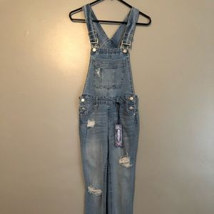 Distressed demon overalls